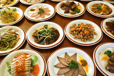 Variety of dishes with authentic Chinese taste