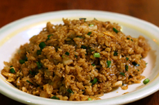 Authentic fried rice is a bit sticky (even though many Japanese people do not believe so)